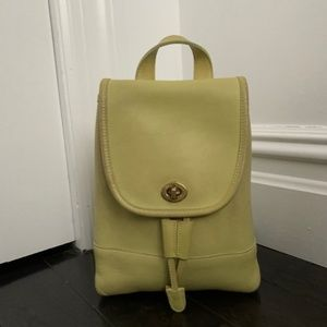 Dark Green Coach Small Purse